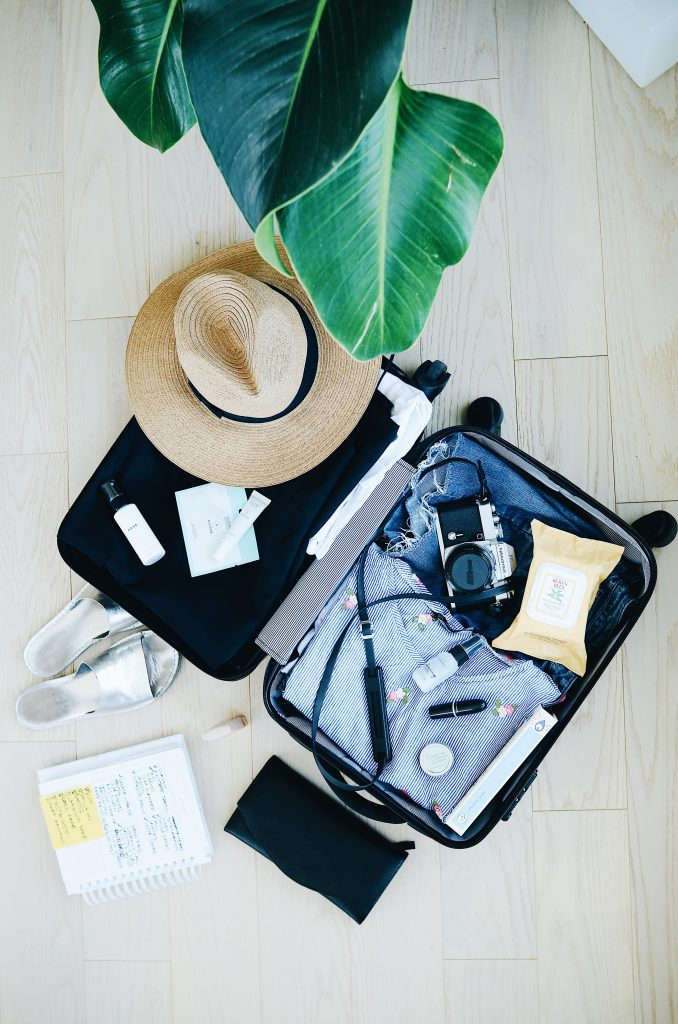 south america packing list for girls - flat lay