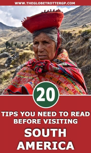 20 South America Travel Tips you need to read before you visit! These travel hacks will make backpacking south america much easier #southamerica #southtamericatips