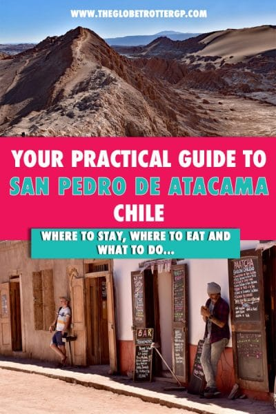 Visiting the atacama desert? Make sure you base yourself at san pedro de atacama - a highlight in chile and a must seee on your chile bucket list! Everything you need to know like when to visit san pedro, where to stay in san pedro de atacama, things to do in the atacama desert, where to eat in san pedro and what to pack for the atacama desert!