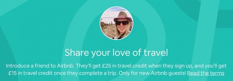 Airbnb coupon - referral credit