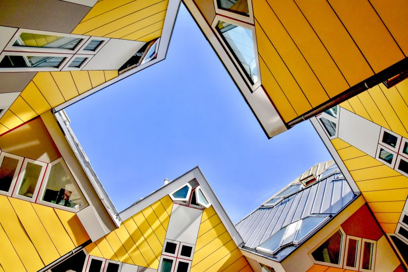 Yellow Cube houses rotterdam - unique architecture in the netherlands
