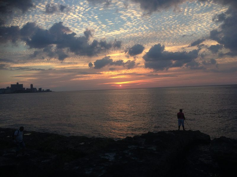 Sunset Malecon Havana - best winter sun holiday destinations