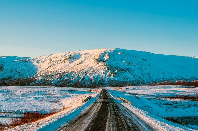 The golden circle iceland in winter