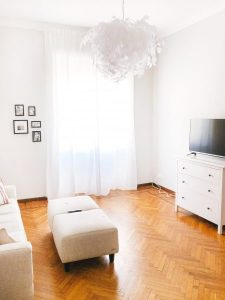 airbnb discount - bright white modern bedroom