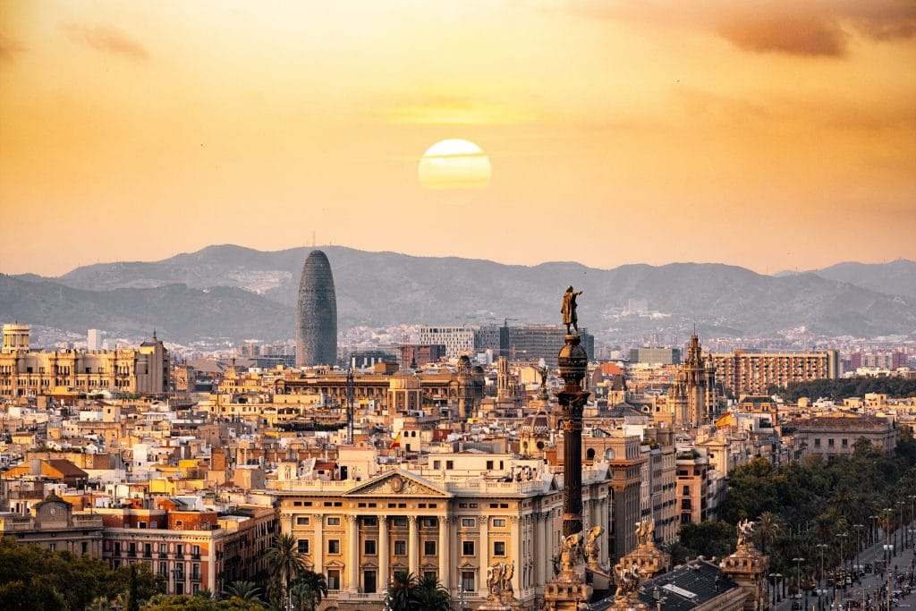 best city breaks for couples barcelona at sunset