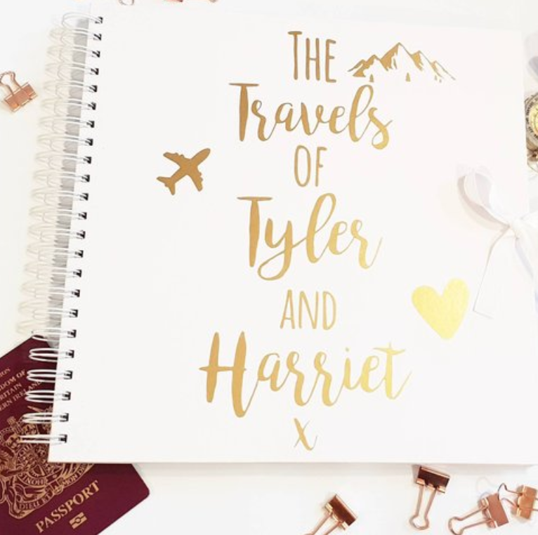 best gifts for travel couples scrapbook