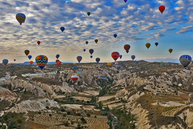 seeing these hot air balloons over the caves is on many europe bucket lists