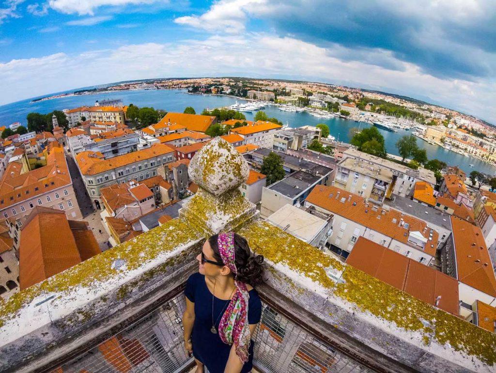 croatia road trips in europe zadar bell tower