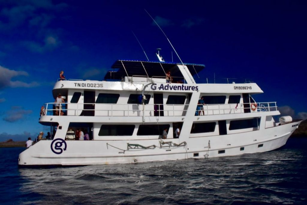 Budget galapagos cruise boat with G adventures