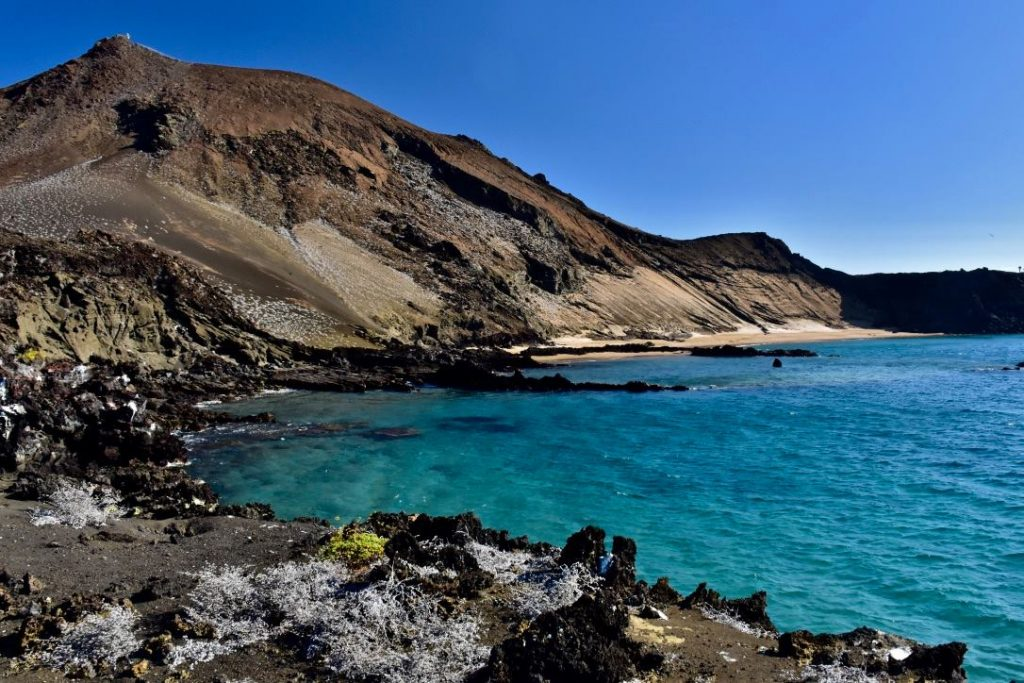 Bartolome  volcanic scenery on a budget galapagos trip