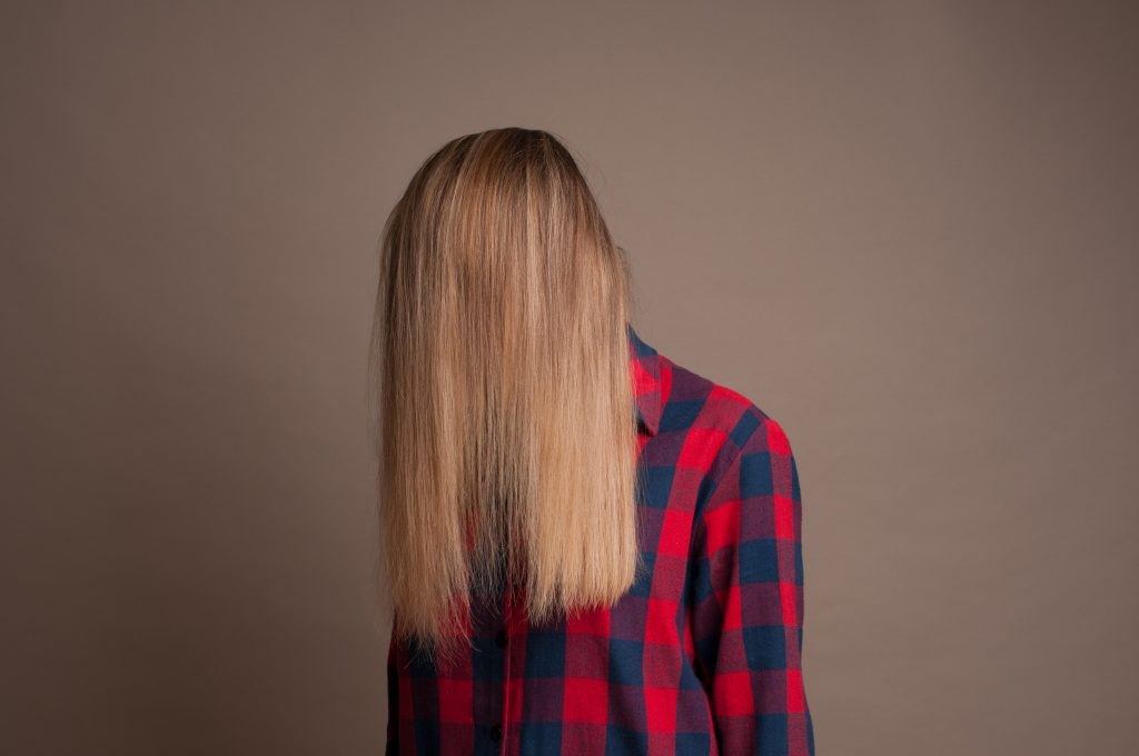 perfectly straight hair with a keratin blow dry