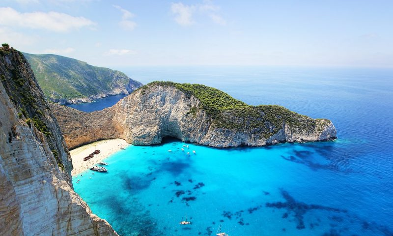 zakynthos ship wreck bay view from the cliffs - a absolute must for your european bucket list