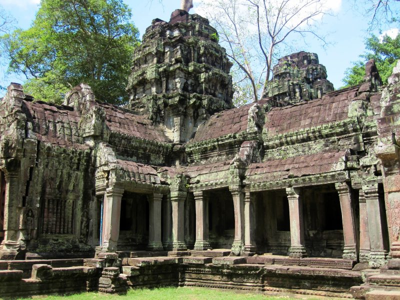 Angkor wat in cambodia on a g adventures tour