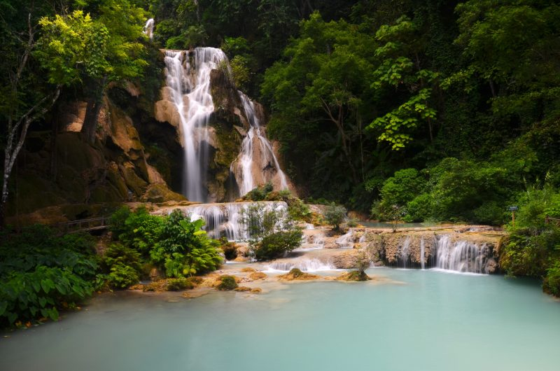 Kwang Si waterfall in Laos on a G Adventures tour