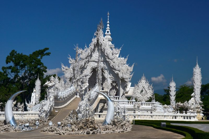 the white temple at Chiang Rai which I visited with G Adventures