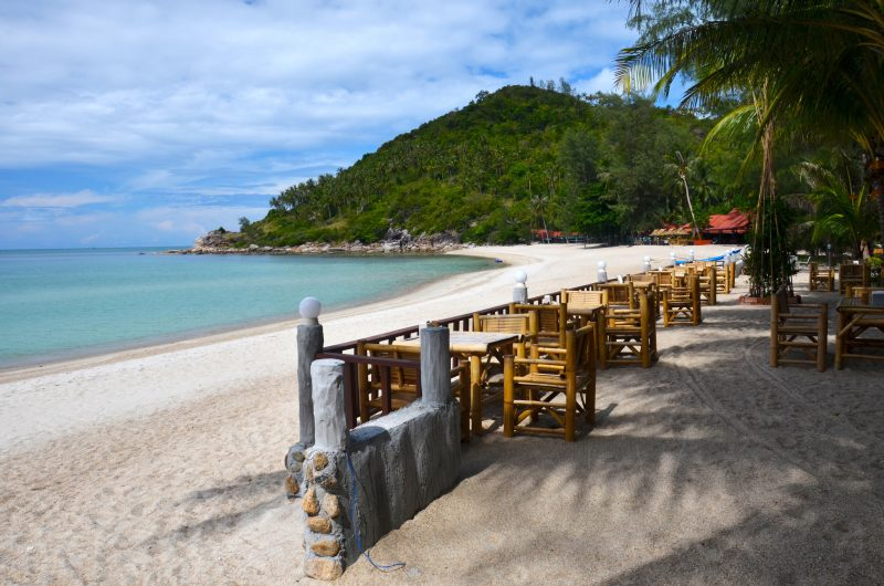 Beach on Koh Samui where we stayed with G Adventures