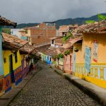 colourful street in colombia south america itinerary