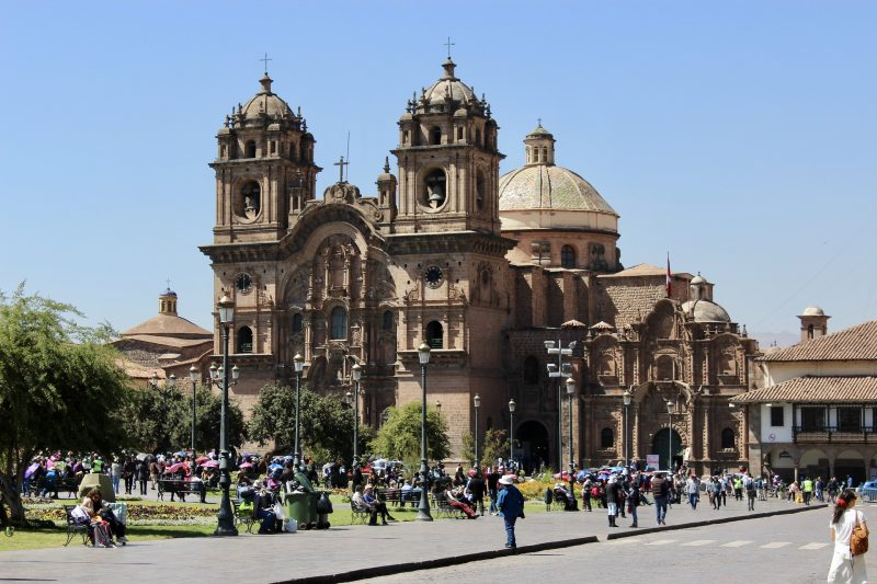 cusco main square plaza del armes south america itinerary