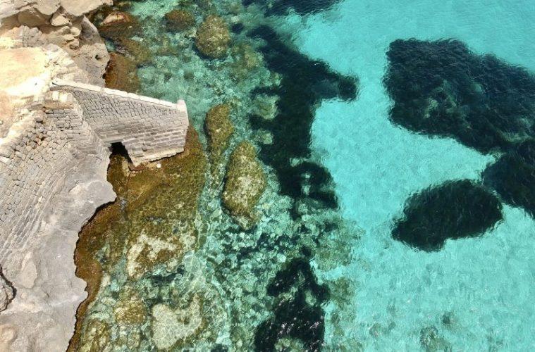 Favignana, Sicily bue marino beach