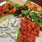 colourful cold mezze platter at saray restaurant