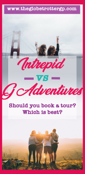 Intrepid vs G Adventure - small group adventure travel via these populat travel companies. Should you book a group tour? Which group tour is best? Tours to Asia, Europe, USA, Canada, australia, new zealand, south america, antarctica, middle east and central america. #grouptours #intrepid #gadventures #grouptravel.