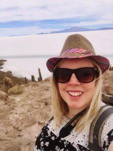 Enjoying the beautiful views of the salt planes in bolivia salar de uyuni!