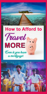 how to travel more even with a mortgage! Easy money saving tips to help make travel affordable. Plenty of ways to have a cheap vacation. Leran how to find cheap flights, bargain hotels, save on car hire. #budgetfortravel #travelbudget #travelmoney #affordabletravel #cheapholidays