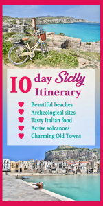 The Ultimate 10 day Sicily Itinerary! Sicily, Italy, is such a beautiful Italian island you need to visit! There are so many things to do in Sicily from beautiful beaches to visiting Mt Etna and seeing the charming Sicily cities such as Taormina, Noto, Cefalu, Ragusa, Trapani... Sicily travel | Sicily photography | Places to see in Sicily #sicily #sicilyphotography #sicilyitinerary #italy