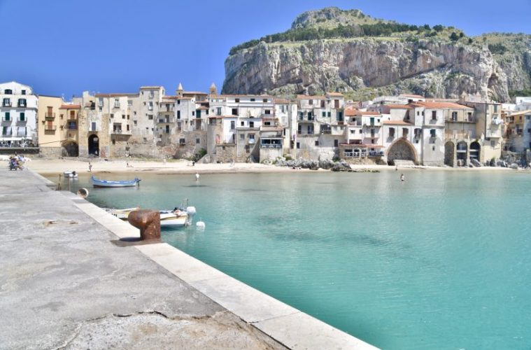 View of Cefalu from the jetty - a must see on your 10 day Sicily itinerary