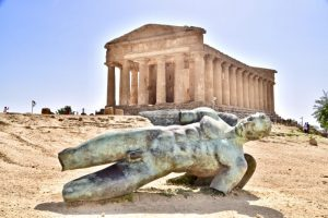 Statues and monuments at the archeological site - valley of the temples - a must see on your 10 day sicily itinerary