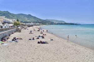 Cefalu beach - the perfect spot for some R&R on your 10 day sicily itinerary