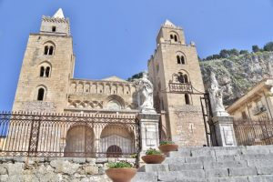 The cathedral in the main square at cefalu - a great place to visit on your 10 days sicily itinerary
