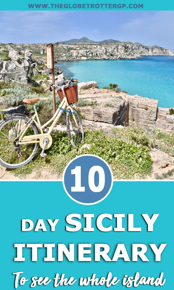 Sicily itinerary pin - all the top places to visit in 10 days in sicily
