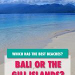 Why you shouldn't visit Bali for the beaches and where to go instead. Searching for best beaches in southeast asia? Or wanting to know where to find the best beaches in bali? Well I'd suggest skipping Bali beaches and heading for the GIli Island Beaches instead. The Gili Meno beach is breathtaking. Gili Air beaches are equally stunning. And Gili Trawangan beaches are great for parties. Beaches in asia | Beaches in Bali | Beaches in the Gili Islands #balibeaches #thegiliislands