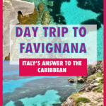 Trapani to Favignana - a day trip to europe's own caribbean. Favignana day trip | Sicily day trips | Things to do on Favignana | Sicily things to do | Places to see in Sicily | Best places in sicily | Best places in italy | Day trips in Italy | best italian island #sicily #favignana #callrossa