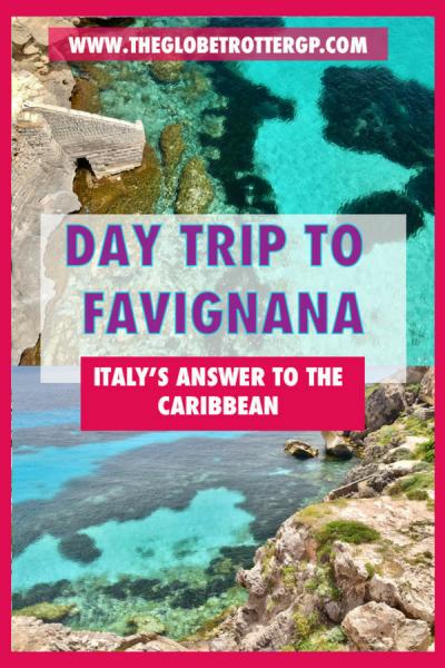 Trapani to Favignana - a day trip to europe's own caribbean. Favignana day trip | Sicily day trips | Things to do on Favignana | Sicily things to do | Places to see in Sicily | Best places in sicily | Best places in italy | Day trips in Italy | best italian island #sicily #favignana #callrossa
