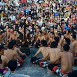 Kecak dance performance at uluwatu temple in bali