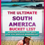 The ultimate south america itinerary. must see south america destinations for your south america bucket list. Help to plan your south america itinerary. Experience south america culture. Backpacking south america or planning a south america vacation? Find plenty of tips for south america travel here. Places to see in south america | places to visit in south america #southamerica #south americabucketlist #southamericaitinerary