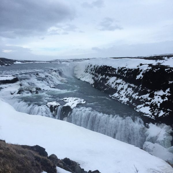 Gullfoss waterfall in iceland, the golden circle