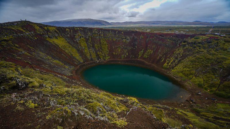Kerid crater lake, golden circle, iceland