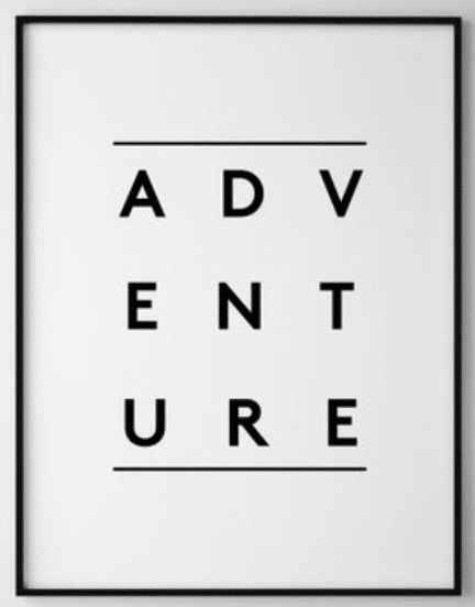 Travel gifts for her - adventure print