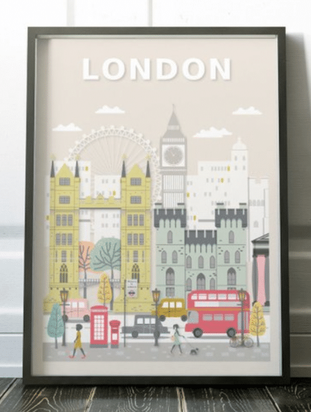 travel gifts for her london print