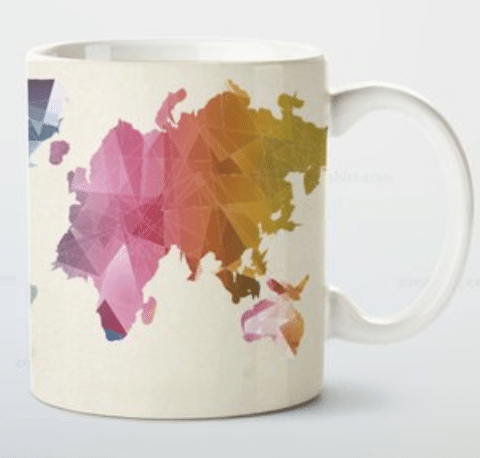 Travel gifts for her colourful mug