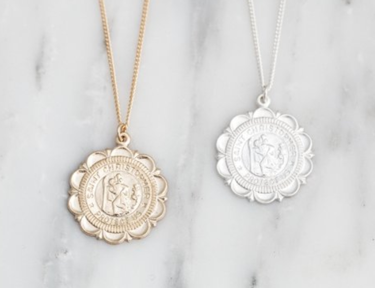 St christopher travel necklace