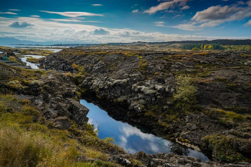 Thingvellier fissure, thingvellir national park, the golden circle, iceland