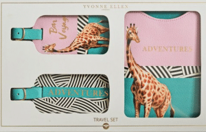 Travel gifts for her - luggage tags set