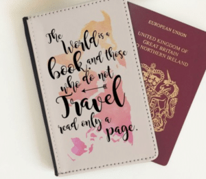 Travel gifts for her - passport cover