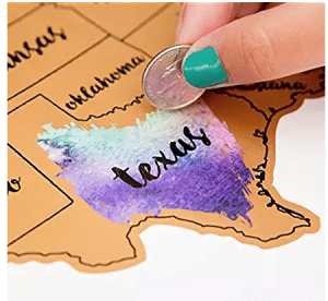 Travel gifts for her - scratch map