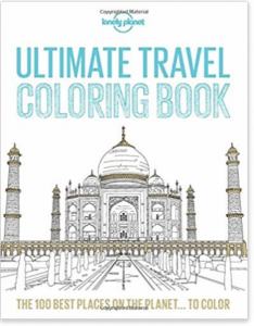 Travel gifts for her - travel themed colouring book
