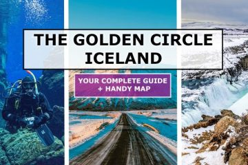 the golden circle iceland map and guide cover photo